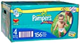 Pampers Baby-Dry Diapers, Size 4, Economy Pack (156 Diapers)