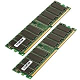 Crucial Dual Channel 2048MB PC2700 DDR 333MHz Memory (2 x 1024MB)