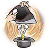 謎の袋と帽子玉子
