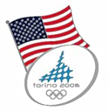 Torino 2006 Winter Olympics American Flag Pin