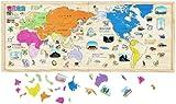 木製 NEW パズル世界地図
