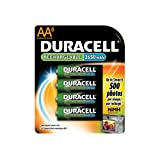 Duracell Rechargeable AA NiMH Batteries, MIGNON/HR6/DC1500, 8-Count Package (Pack of 2)