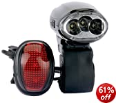 Draper 44348 LED Wind-up Bike Light Set