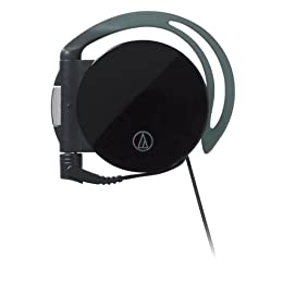 audio-technica 片側巻取りイヤフィットヘッドホン ATH-EQ600 BK