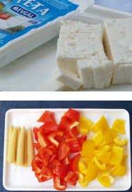 フェタのカラフルサラダの作り方