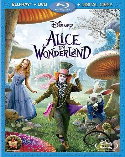 Alice in Wonderland - 3-Disc BD Combo Pack  DVD