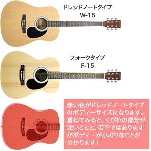 演奏性に優れたフォークギタータイプ