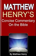 Matthew Henry's Concise Commentary on…