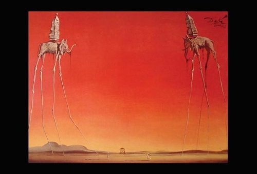 The Elephants painted by Salvador Dali