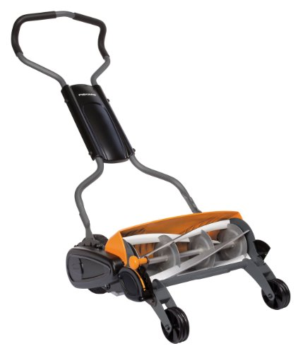 Fiskars 18-Inch StaySharp Push Reel Lawn Mower - 6201