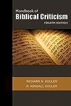 Handbook of Biblical Criticism, Fourth…