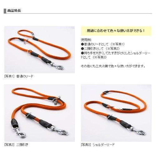 【中大型犬用リード】ドッグカラー フリースタイル丸リード Lサイズ 色:594 茶