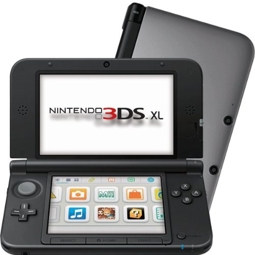 nintendo 3ds xl konsole silber schwarz games. Black Bedroom Furniture Sets. Home Design Ideas