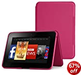 Amazon Standing Leather Cover, Fuchsia  [will only fit Kindle Fire HD 8.9 (2nd Generation)]
