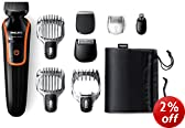 Philips Series 3000 11-In-1 Mens Grooming Kit QG3352/23, Beard Trimmer Hair Clippers, Moustache, Stubble, Detail Shaving, Nose Hair and Eyebrow Trimmers