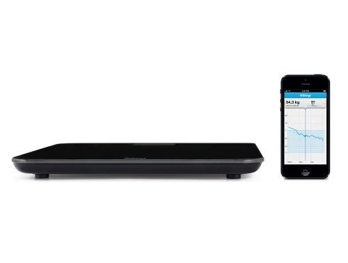 Withings Wireless Scale ネットワーク対応 体重計 WS-30 ( Bluetooth Wi-Fi 機能搭載 / 超薄型 / BMI測定可 / ブラック ) WS-30-B