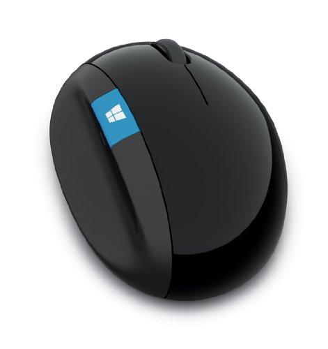 マイクロソフト 人間工学 ワイヤレス マウス Sculpt Ergonomic Mouse for Business Win7/8 Black  (ブルートラック) 5LV-00004