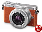 Panasonic Lumix DMC-GM1KEB-D Compact System Digital Camera with 12-32mm Lens - Orange (16MP) 3 inch LCD (New for 2014)