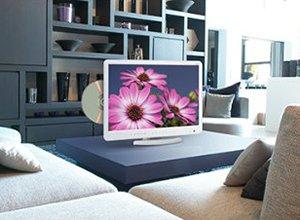 18.5インチ 高解像度 DVD内蔵LED液晶テレビ HP-185DTV-WH