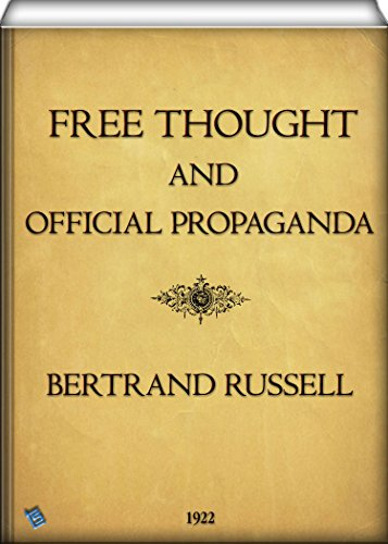 "The cover of ""Free Thought and Official Propaganda."""
