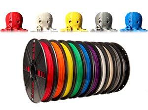 多彩なカラーのMakerBotフィラメント