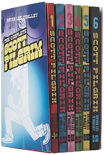 Scott Pilgrim 6 Books Collection Set (Scott Pilgrim's Precious Little Life, Scott Pilgrim vs the World, Scott Pilgrim and the Infinite Sadness, Scott Pilgrim Gets it Together, Scott Pilgrim vs the Universe, Scott Pilgrim's Finest Hour)