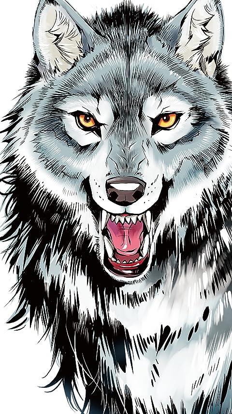 10歳までに読みたい世界名作 シートン動物記「オオカミ王ロボ」 XFVGA(480×854)壁紙画像