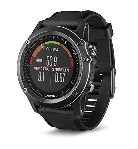 Garmin fenix 3 HR Saphir GPS-Multisportuhr grau mit schwarzem Armband