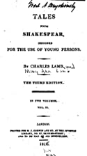 Tales From Shakespear, Designed for the Use…