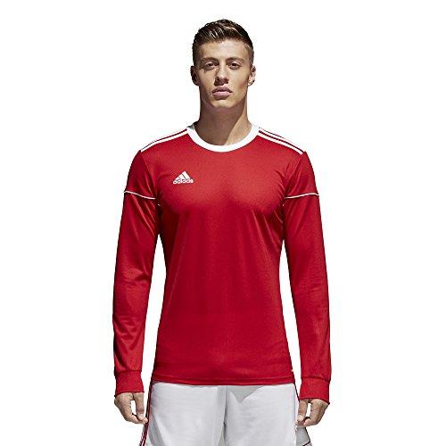 adidas Squadra 17 Long-Sleeve Jersey - Men's Soccer S Power Red/White