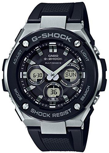 CASIO 腕時計 ジーショック G-STEEL 電波ソーラー GST-W300-1AJF メンズ ブラック
