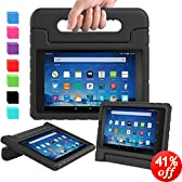 c3b8f8738184 AVAWO Shock Proof Case for Fire HD 8 2017/2018 Tablet with Alexa - Kids  Shockproof Convertible Handle Light Weight Protective Stand Case for Fire  HD 8 inch ...