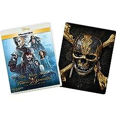 パイレーツ・オブ・カリビアン/最後の海賊 MovieNEXプラス3Dスチールブック:オンライン数量限定商品 [ブルーレイ3D+ブルーレイ+DVD+デジタルコピー(クラウド対応)+MovieNEXワールド] [Blu-ray]