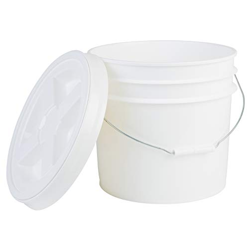 Black FREE SHIPPING HDPE NEW Premium 5 Gallon Bucket with Gamma Seal Lid