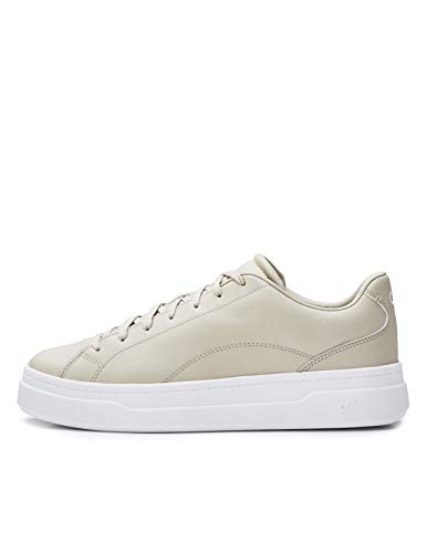 CARE OF by PUMA Women's Leather Platform Low-Top Trainers, Beige, US 6