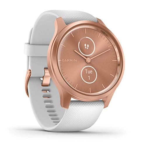 Garmin vívomove Style – stilvolle Hybrid-Smartwatch mit 2 brillanten AMOLED-Farbdisplays, Sport-Apps und Fitness-/Gesundheitsdaten, wasserdicht, 5 Tage Akkulaufzeit, Fitness Tracker, connected-GPS