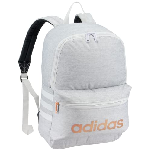 adidas Boys' Youth Classic 3S Backpack, Jersey White/Onix/Rose Gold, One Size
