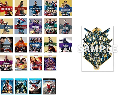 【Amazon.co.jp限定】MARVEL 23本全巻セット(MARVEL インフィニティ・サーガ オリジナルアートボード付き) [Blu-ray]