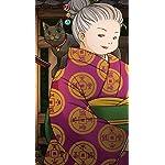 ふしぎ駄菓子屋 銭天堂 iPhoneSE/5s/5c/5(640×1136)壁紙 墨丸(すみまる),紅子