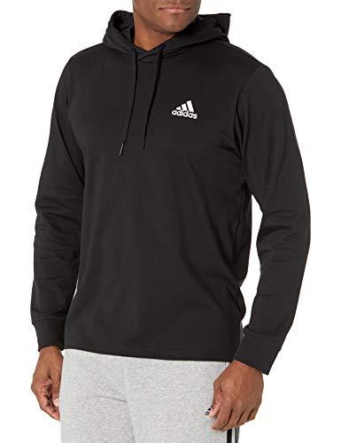 adidas,Mens,Small Logo Single Jersey Hoodie,Black,X-Large | Pricepulse