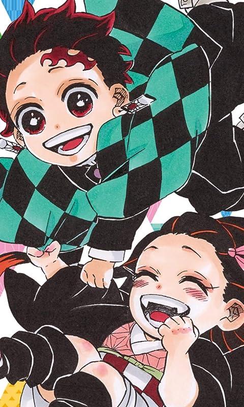 鬼滅の刃 竈門禰豆子,竈門炭治郎のデフォルメ FVGA(480×800)壁紙画像