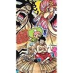 ONE-PIECE iPhone SE/8/7/6s(750×1334)壁紙 カイドウ,ビッグマム,花のヒョウゴロウ,チョッパー,ルフィ