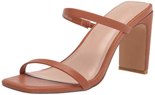 Details about  /The Drop Women/'s Avery Square Toe Two Strap High Heeled Sandal