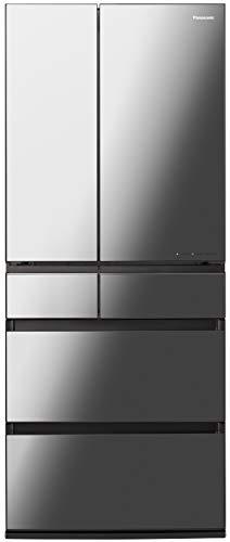 パナソニック IoT対応 冷蔵庫 6ドア 650L フレンチドア ストックマネージャー機能搭載 オニキスミラー NR-F657WPX-X
