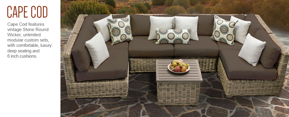 Captivating TK Classics Cape Cod Outdoor Wicker Patio Furniture Sets: