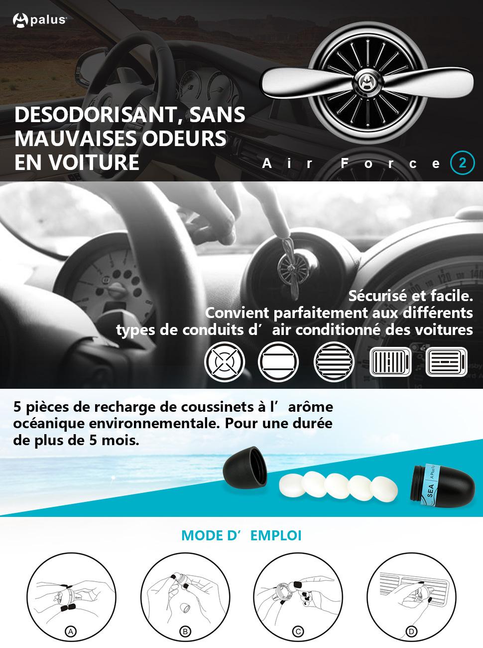 apalus air force ii d sodorisant naturel pour voiture diffuseur parfums et huiles. Black Bedroom Furniture Sets. Home Design Ideas