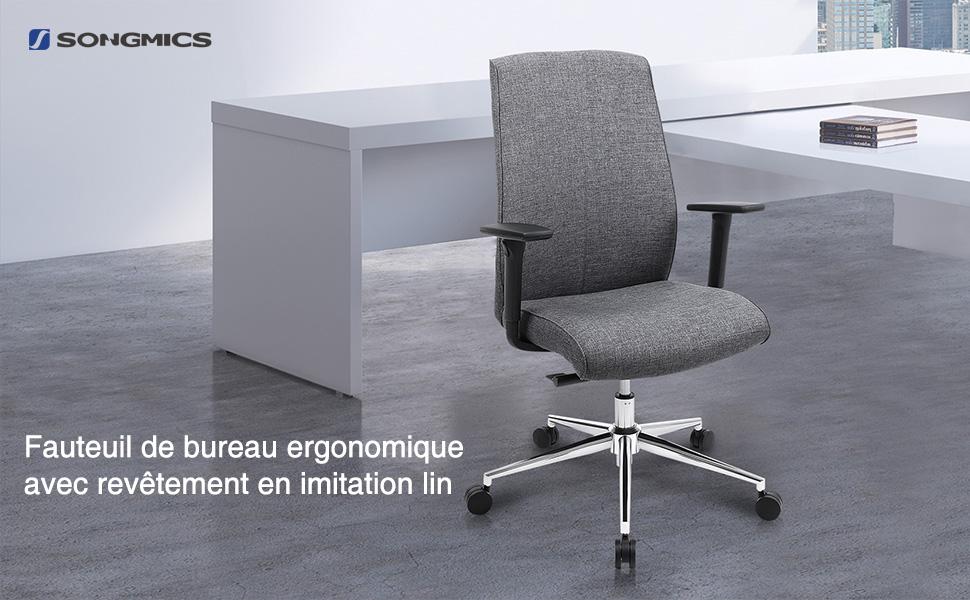 Chaise de bureau fauteuil gaming siège bureau ergonomique pivotant