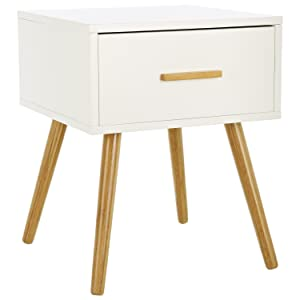 lomos no 4 table de chevet en bois blanc un panneau. Black Bedroom Furniture Sets. Home Design Ideas
