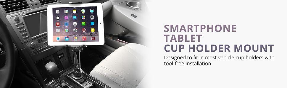 ikross 2 en 1 kit de support porte gobelet voiture ajustable et extensible pour smartphone et. Black Bedroom Furniture Sets. Home Design Ideas