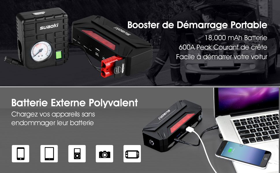 suaoki t3 plus 18000mah booster batterie portable 600a jump starter d marreur de. Black Bedroom Furniture Sets. Home Design Ideas